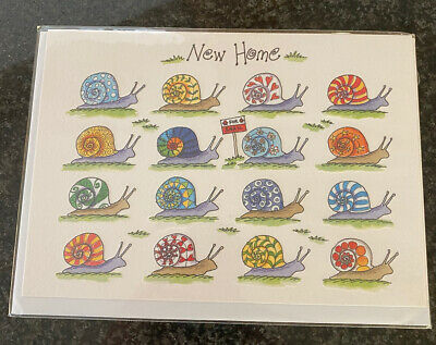 Phoenix Trading Quality New Home (snails) Greetings Card Blank • 2£