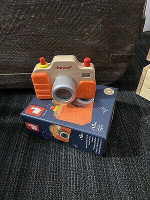 £9 • Buy Janod Sound & Light Camera Gift Box Presentation Wooden Toy 1.5 To 3 Years