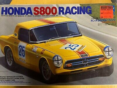 Tamiya 1/24 Model Car Kits. Honda S800 Racing #177. Rare, Vintage, NIB, NOS. • 99£