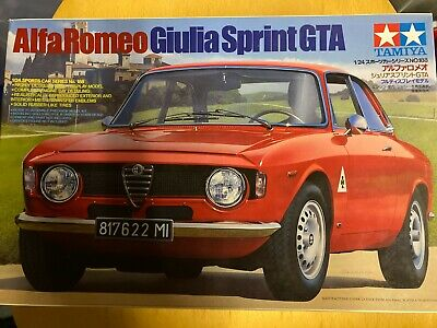 Tamiya 1/24 Model Car Kits, Alfa Giulia Sprint GTA #188. Rare, Vintage, NIB, NOS • 99£