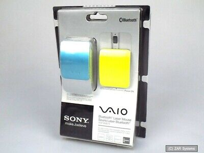£156.67 • Buy Sony VGP-BMS15 Vaio Kabellose Bluetooth Laser Mouse Blau Gelb Mit Wechselcover