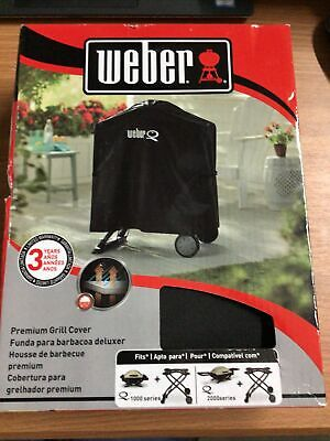 $ CDN30.04 • Buy Weber Grill Q1000-2000 Series Gas Grill Full-Length Cover Rolling Cart # 7113