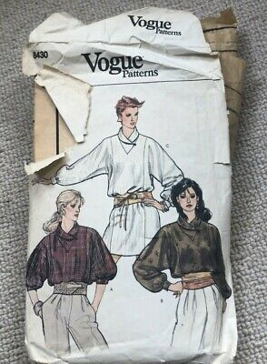 1970/80s Vintage Vogue Sewing Pattern 8430 Ladies Tunic Shirt/dress Size 14 • 3£