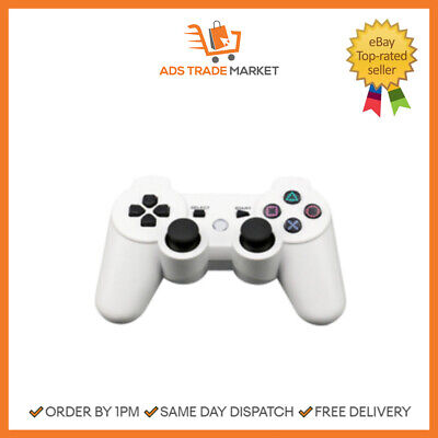PS3 Bluetooth Wireless Controller Control For Sony Playstation 3 White • 8.98£