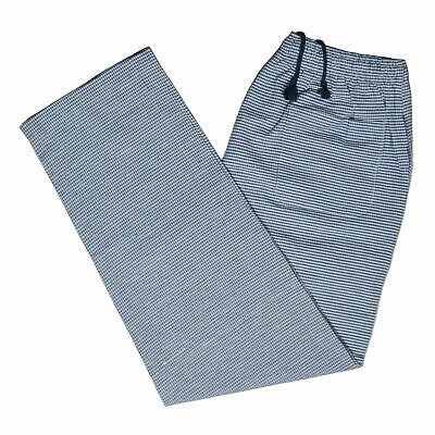 Chef Trousers Pant Gingham Check Kitchen BLACK & WHITE Uniform Elasticated Food • 10.99£