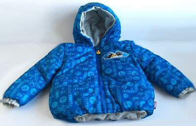 £21.81 • Buy Thomas And Friends Reversible Hooded Winter Ski Jacket Size 4T Boy Blue Gray New