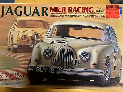 Tamiya 1/24 Model Car Kits. Jaguar Mk11 Racing #159. Rare, Vintage, NIB, NOS. • 99£
