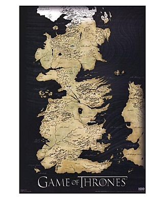 £10.58 • Buy GAME OF THRONES Poster MAP GOT