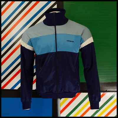 Vintage 80s ADIDAS Track Top Blue West Germany Size L 126 O • 39.99£