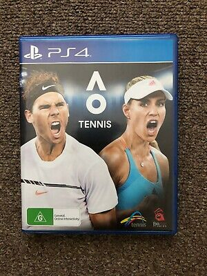 AU21 • Buy PS4 Game - AO Tennis - Preowned