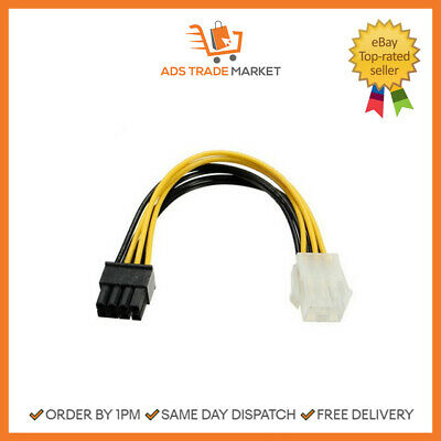 Pci-E 6 Pins To 8 Pins Power Cable For PC Power Cable Replacement • 2.23£