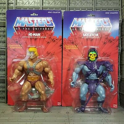 $600 • Buy Masters Of The Universe Giant He-Man & Skeletor Classics Mattel 12  Inch Figures