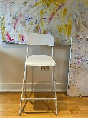 3 Ikea Franklin Bar Stools Backrest And Footrest Virtually New Immaculate • 35£