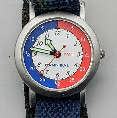 £7.50 • Buy Childs' Beginners Watch Learn To Tell Time Red Blue Brand Cannibal
