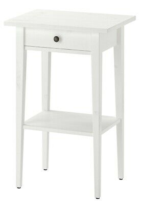 IKEA HEMNES Bedside Table, White Stain , 46 X 35 Cm - Brand New - Free Postage • 79.95£