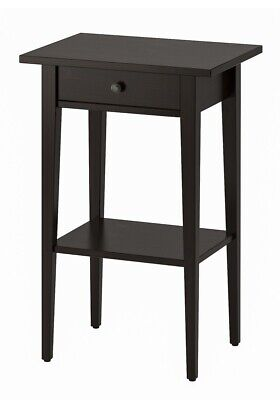 IKEA HEMNES Bedside Table, Black-Brown , 46 X 35 Cm - Brand New - Free Postage • 79.95£