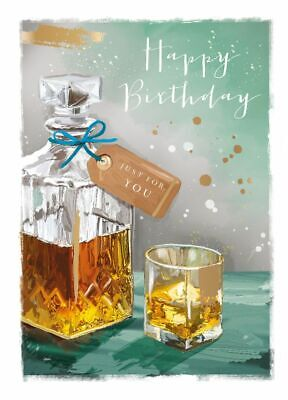 Birthday Card - Just For You - Whiskey - At Home Ling Design Male Quality NEW • 2.69£