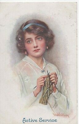 £3.99 • Buy Vintage Wwi Postcard,harold Copping,english Homeland Series Active Service 1915