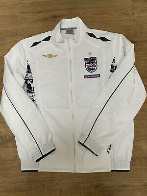England Football Training Jacket/tracksuit Top Official Umbro Large • 35£