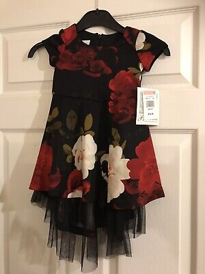 Bonnie Jean Girls Dress Red Rose High Low Party Dress Age 2T RRP $74 • 19.99£