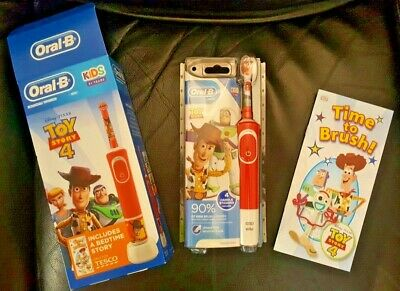 AU37.91 • Buy ORAL B Toy Story 4 Kids Electric Rechargeable Toothbrush Sticker FREE Book + App