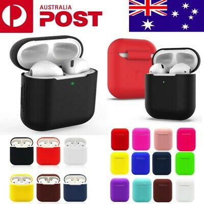 AU4.90 • Buy Apple AirPods Case Silicone Gel Shockproof Protective Skin Cover AirPods 1 2