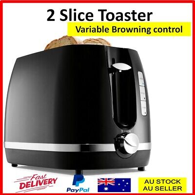 AU24.50 • Buy Toaster 2 Slice Electric Automatic Crumb Tray Defrost Reheat Variable Browning