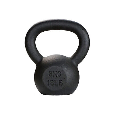 AU34 • Buy 8kg Kettlebell // Cast Iron Russian Style Black Crossfit Functional Training Gym