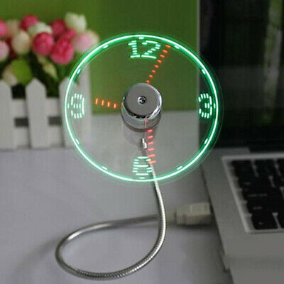 AU18.24 • Buy USB LED Clock Flexible Gooseyneck Cooling Mini Fan PC Notebook Gadget All