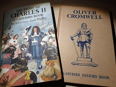 2 Vintage Ladybird Books OLIVER CROMWELL & THE STORY OF CHARLES II History 561 • 1.50£