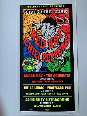 $100 • Buy Taz 1998 Red Hot Chili Peppers Original Rock Concert Poster