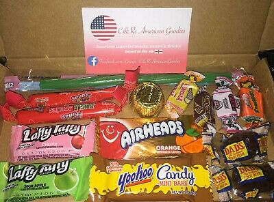 American Sweets Gift Box Candy Hamper Airheads Laffy Taffy Twizzler  UK SELLER • 3.20£