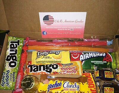 American Sweets Gift Box Candy Hamper Airheads Laffy Taffy Twizzlers  UK SELLER • 3.20£