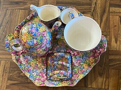 $ CDN564.57 • Buy Royal Winton Grimwades Rare Joyce-Lynn Chintz 6 Pc Breakfast Tea Set Complete