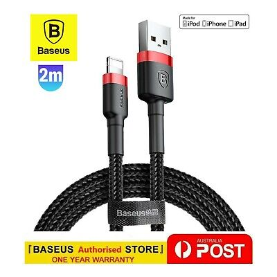 AU8.35 • Buy Baseus USB Cable Fast Charging Charger Cord For IPhone 12 Pro Max XS XR 8 7 IPad