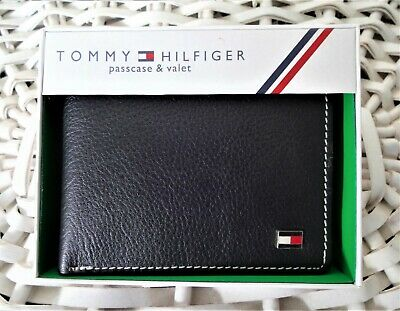 £18.99 • Buy Men's Leather Wallet 'Tommy Hilfiger' Bifold, BLACK,Coin Pouch, MRP $60.00,OFFER