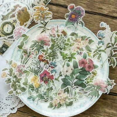 $ CDN3.96 • Buy 60 Pcs Vintage Flowers Plant Stickers Stationery DIY Scrapbooking Stickers
