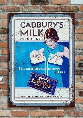 £6.95 • Buy Cadbury's Milk Chocolate Confectionary Retro Vintage Advertising Metal Wall Sign