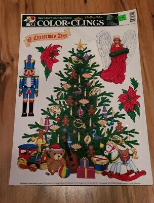 $ CDN12.12 • Buy Vintage Christmas Window Cling Decorations Glass Decals Stickers Ornaments NOS