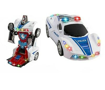 AU18.80 • Buy Toys For Boys Age 3 4 5 6 7 8 9 Year Old Kids Police Car Transformer 2 In1 Robot