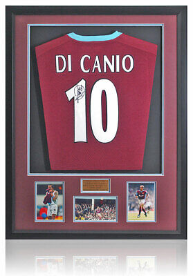 £349 • Buy Paolo Di Canio Hand Signed West Ham United Official Shirt AFTAL COA
