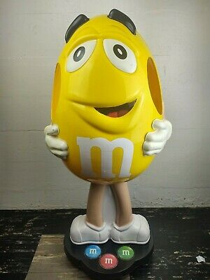 $100 • Buy M&M Store Display - Character Yellow Peanut - 40  Tall - On Wheels
