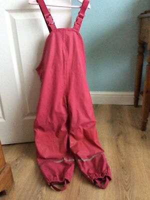 Girls Lupilu Fleece Lined Waterproof Dungarees Trousers Age 6-8 Years • 4.20£