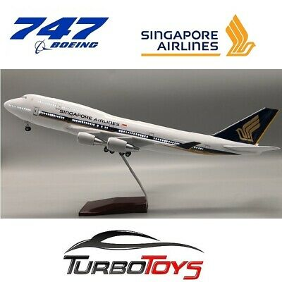 AU149.95 • Buy New - Boeing 747- 400 Singapore Airlines 1/150 Large Resin Led Model With Stand