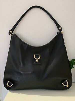 AU400 • Buy 🦥 Gucci 100% Authentic Black Leather  Abbey  D-Ring Hobo Bag