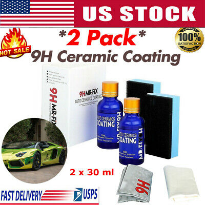$14.99 • Buy 2Pcs  9H Nano Ceramic Car Glass Coating Liquid Hydrophobic AntiScratch Auto Care