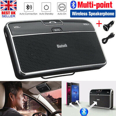 Bluetooth Wireless Hands Free Car Speakerphone Speaker Kit For IPhone Android • 17.89£