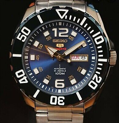 $ CDN340.90 • Buy SEIKO 5 BNWT BLUE BABY MONSTER SRPB37K1 Automatic Watch 4R36 SPORT DIVER GUARANT