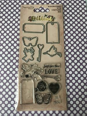 Clear Stamps And Die Set For Card Making • 3£