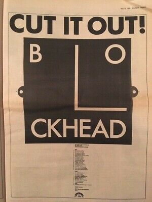 Ian Dury And The Blockheads Cut It Out Original Press Advert Poster • 9£